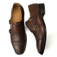 China Cow Leather Dress Shoes Summer Men Oxford Shoes with Double Buckle wholesale