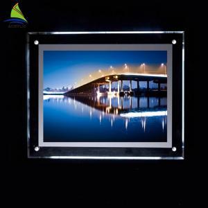 China Decorative Clear Acrylic Led Light Box 4x6 4x5 5x7 Acrylic Picture Frame wholesale
