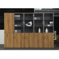 China Wooden Office Storage Cabinets , Lockable Filing Cabinets With Tempered Glass Door wholesale