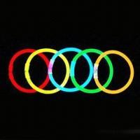 China Glow Bracelets, Made of PE, Measures 5 x 200 and 6 x 200mm wholesale