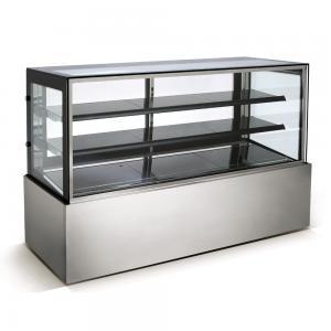 China 1200MM Long Cafe Cake Display Fridge With Back Sliding Glass Door And LED Lights wholesale