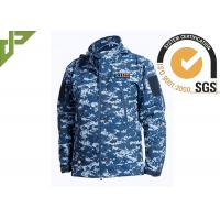 China Soft Shell Military Tactical Jackets 100% Polyester With Loop Knitting For Autumn wholesale