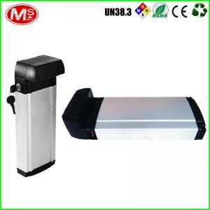 China Aluminum Case E Bike Battery Silver Fish Series 48v 12ah Lifepo4 Lithium Battery on sale