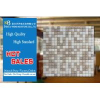 China Beige Kitchen Wall Travertine Marble Mosaic Tiles White Marble Floor Tiles on sale