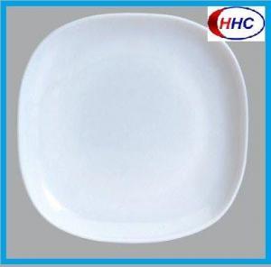 China Opal Glass Square Plate wholesale