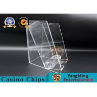 Acrylic Square 8 Decks Playing Card Discard Holder / Discard Racks Baccarat Accessories