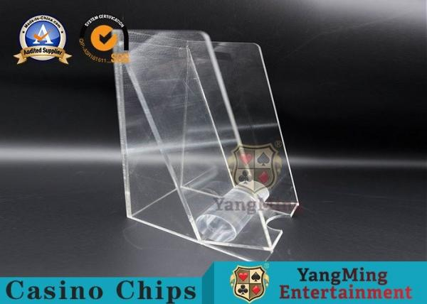 Quality Acrylic Square 8 Decks Playing Card Discard Holder / Discard Racks Baccarat Accessories for sale