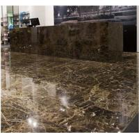 China Marron Emperador Dark Marble Stone Slab , Granite Bathroom Tiles For Floor And Wall on sale