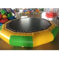 China Big Floating Inflatable Water Trampoline , Multi Color Outdoor Inflatable Water Park on sale