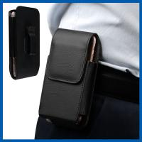 Remove Vertical Cell Phone Leather Cases Strong Magnetic Closure