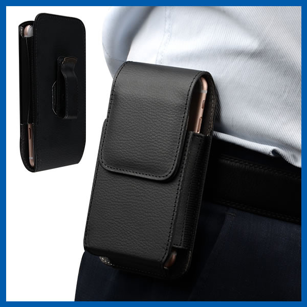 Quality Remove Vertical Cell Phone Leather Cases Strong Magnetic Closure for sale