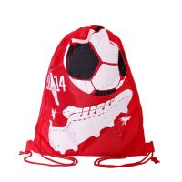 China Full Side Printed Polyester Drawstring Backpack , Outdoor Gym Sports Backpack on sale