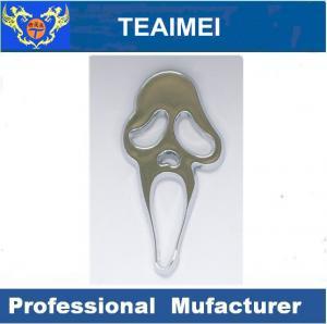 China Unique Custom Skull Chrome Custom Car Emblems For Peugeot / Nissan wholesale