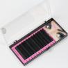 China Black Full Set D Curl Eyelash Extensions , Individual Salon Eyelash Extensions wholesale