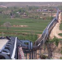 China Troughed belt conveyor for long distance horizontal curves on sale