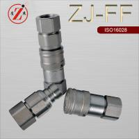China ZJ-FF ISO16028 flat face type hydraulic quick coupling on sale