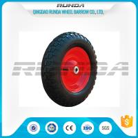 China Comb Pattern Air Heavy Duty Rubber Wheels 3.50-8 TR13 Valve For Tool Carts wholesale
