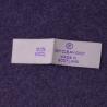 China Center Fold Custom Clothing Labels Neck Iron On Name Labels wholesale
