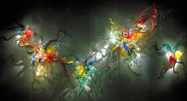 Colored Glass Wall Decor : Decorative glass wall art images