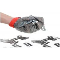 China Butcher Stainless Steel Mesh Safety Gloves Flexible Wrist Strap For Home Slaughtering wholesale