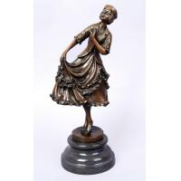China Western Style Bronze Nude Dancer Sculpture wholesale