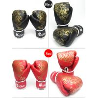 China Hot Sell red blue black PU boxing gloves fighting gloves for sale on sale