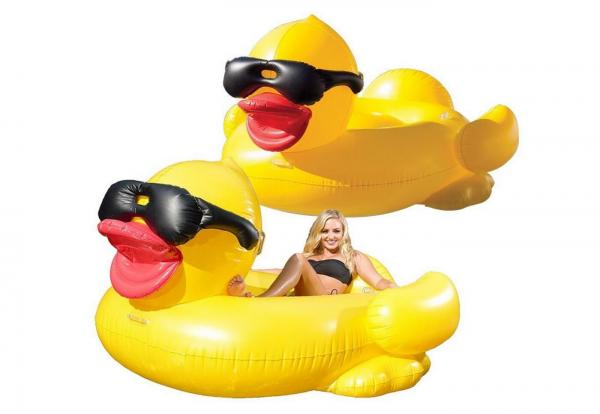 Quality Classic Inflatable Duck Pool Float 0.25mm Thickness Easy Wiping Down For Family for sale