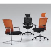 China Variety of guest chairs from with Bow shape and angle legs with armrest and breathable mesh BS5731C wholesale
