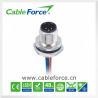 China Parte posterior masculina del conector del soporte del panel del receptáculo M12 3pin del sensor que monta Sodered con los alambres wholesale