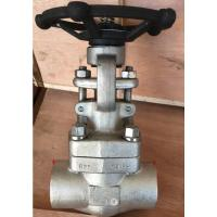 China Flanged Flexible Wedge Forged Steel Gate Valve Welded Bonnet OS&Y SW NPT API 602 wholesale