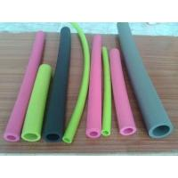 China Small Diameter Silicone Coloured Foam Tubes Non Toxic For Water And Fluid Lines wholesale