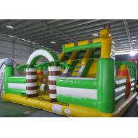 Buy cheap PVC Animal Inflatable Bouncy Castle Bed , Blow Up Kids Water Slide from wholesalers