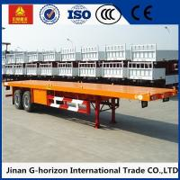 China Double Axles 20ft 40ft Flat Bed Semi Trailer 2 axles container semi truck flatbed wholesale
