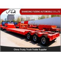 China 120 / 100 Tons Heavy Equipment Trailers 3 Lines 6 Axles Mechanical Ladder wholesale