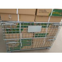 China Industrial Storage Cage , Stackable Wire Mesh Baskets 500-2000kg Capacity wholesale