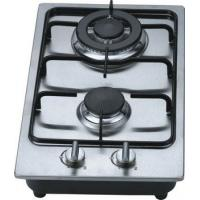 China Fashion Stainless Steel 2 Burner Gas Hob / Kitchen Gas Cooktop 30cm Built In wholesale