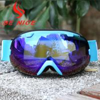 Quality Mirror Coating Anti Fog OTG Ski Goggles With Two Way Venting For Clear Vision for sale