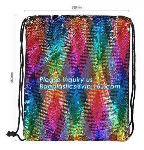 China Shining Sequin Backpack Back Pack,Glitter Drawstring Backpack Bling Shining Bag Shoulder Bag Sequin Backpack, bagplastic on sale