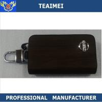China Beautiful Recyclable Black Real Leather Key Case Wallet For Nissan Car wholesale
