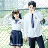China Girls International Middle High Teen School Uniform Shirt Korean White Long Sleeve wholesale