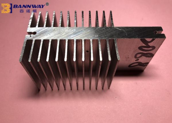 Quality High Durability Heat Sink Aluminum Profiles Silver Anodizing Surface Treatment for sale