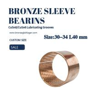 China Thin Wall Standard Tin Bronze Sleeve Bushing 30-34 L40  by Metric Size wholesale