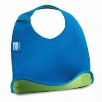China Baby Bib, Customized Designs are Accepted, Made of Neoprene wholesale