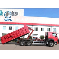 China Diesel Garbage Compactor Truck Hook Arm Garbage Truck Detachable Container Compression Garbage Collector engine euro iI wholesale