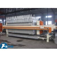 China 902L Mechanical Filter Press 870mm Automatic Pulling Plate With Shaking System wholesale