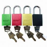 China Aluminum-alloy color plated padlocks on sale