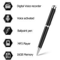 China Digital Audio Voice Activated Recorder Pen / Ballpoint Pen / Dictaphone / MP3 Player / One Button Recording on sale