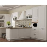 China Dining Kitchen Furniture discount wood veneer l shape kitchen cabinet on sale