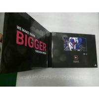 China 2.4/4.3/5/7/10 Inch HD screen Video In Print Brochure , matte lamination color Cover wholesale