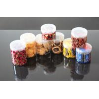 China Transparent Plastic Food Cans For Nuts Packing Ring Pull PET Structure on sale